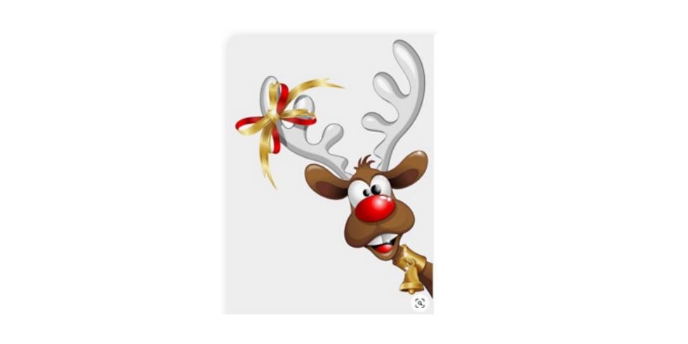 Sip & Paint, Surprised Reindeer, Virtual and In-studio