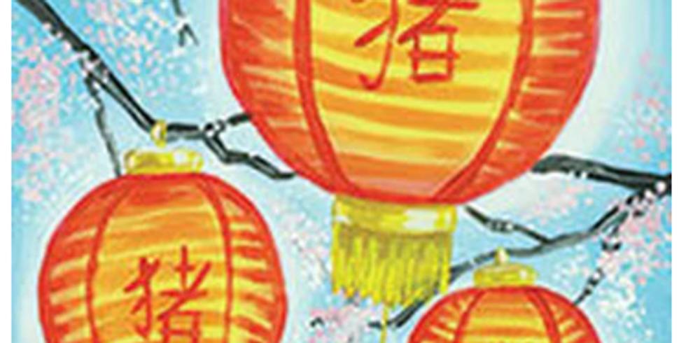 New Year Lanterns Paint & Sip