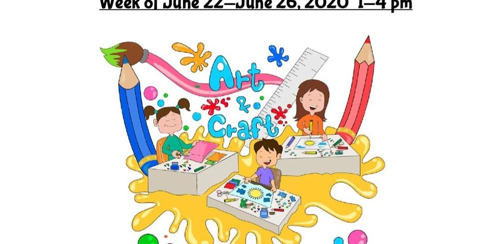 Summer Camp, JUNE 22  - JUNE 26,  1 - 4 pm, Full Week  (1)