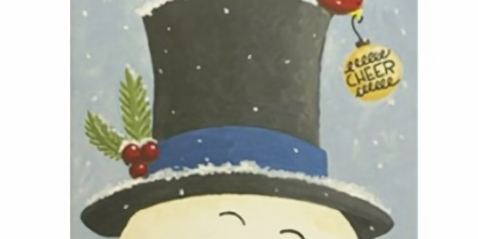SPECIAL Late night paint night. Snowman