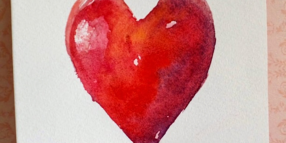 Beginner Watercolor Lesson and V-day cards