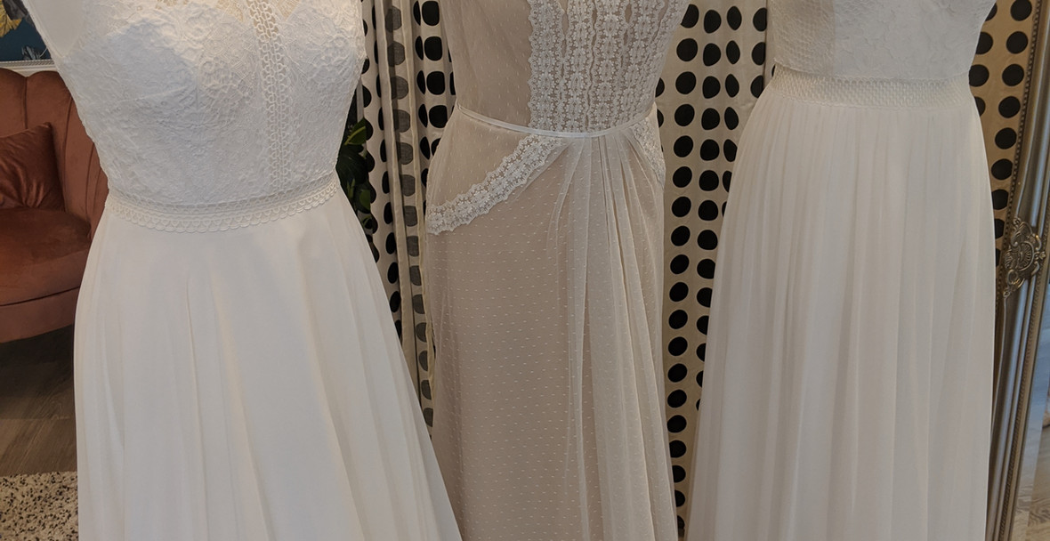 Off the Peg Wedding dresses at Pretty Smithy Bridal