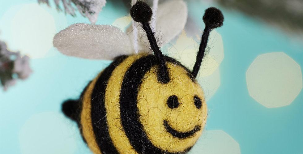 Bee Happy Felt Hanging Decoration