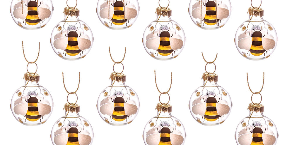 Mini Bee Baubles Set of 12