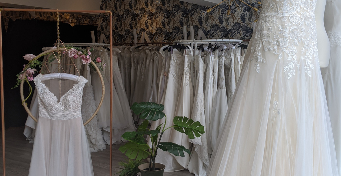 Gloria and Amber Wedding Dresses at Pretty Smithy Bridal