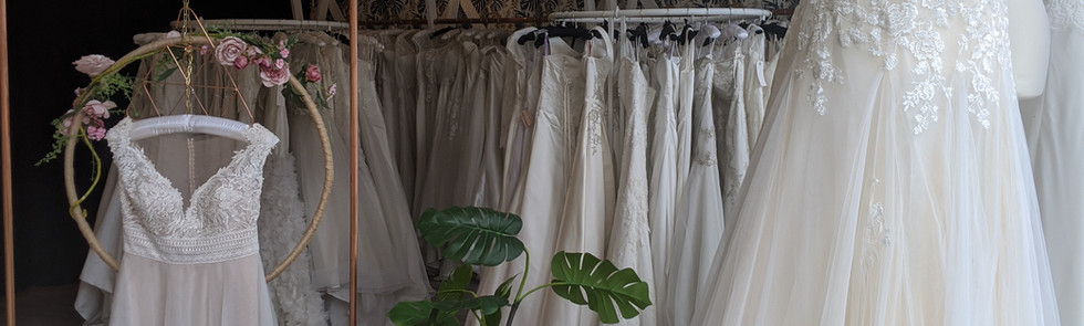 Gloria and Amber Wedding Dresses at Pretty Smithy Bridal