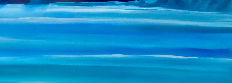 A View To Blue.  Acrylic on canvas. £250