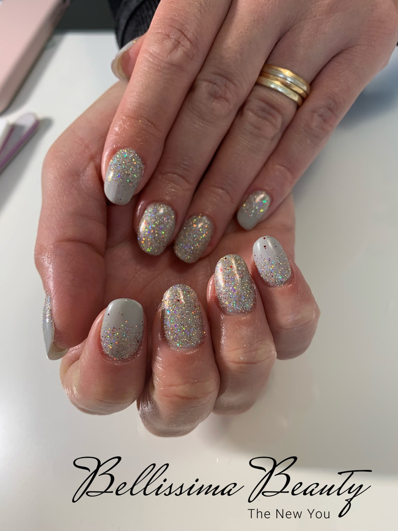 Glitterbels Acrylic Infils With Magpie Gel & Glitter