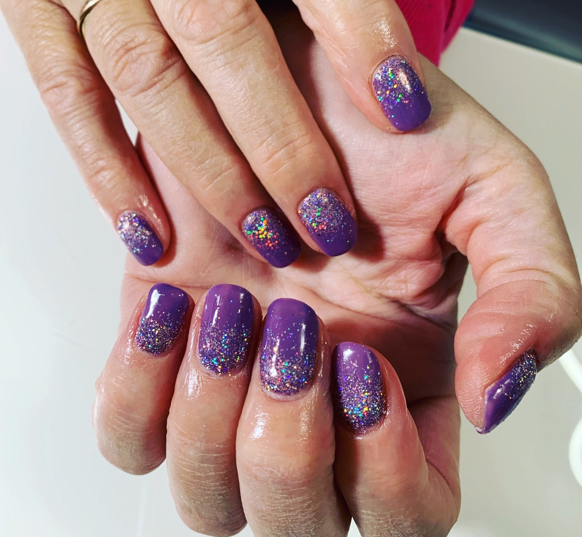 Magpie Gel & Glitter On Natural Nails
