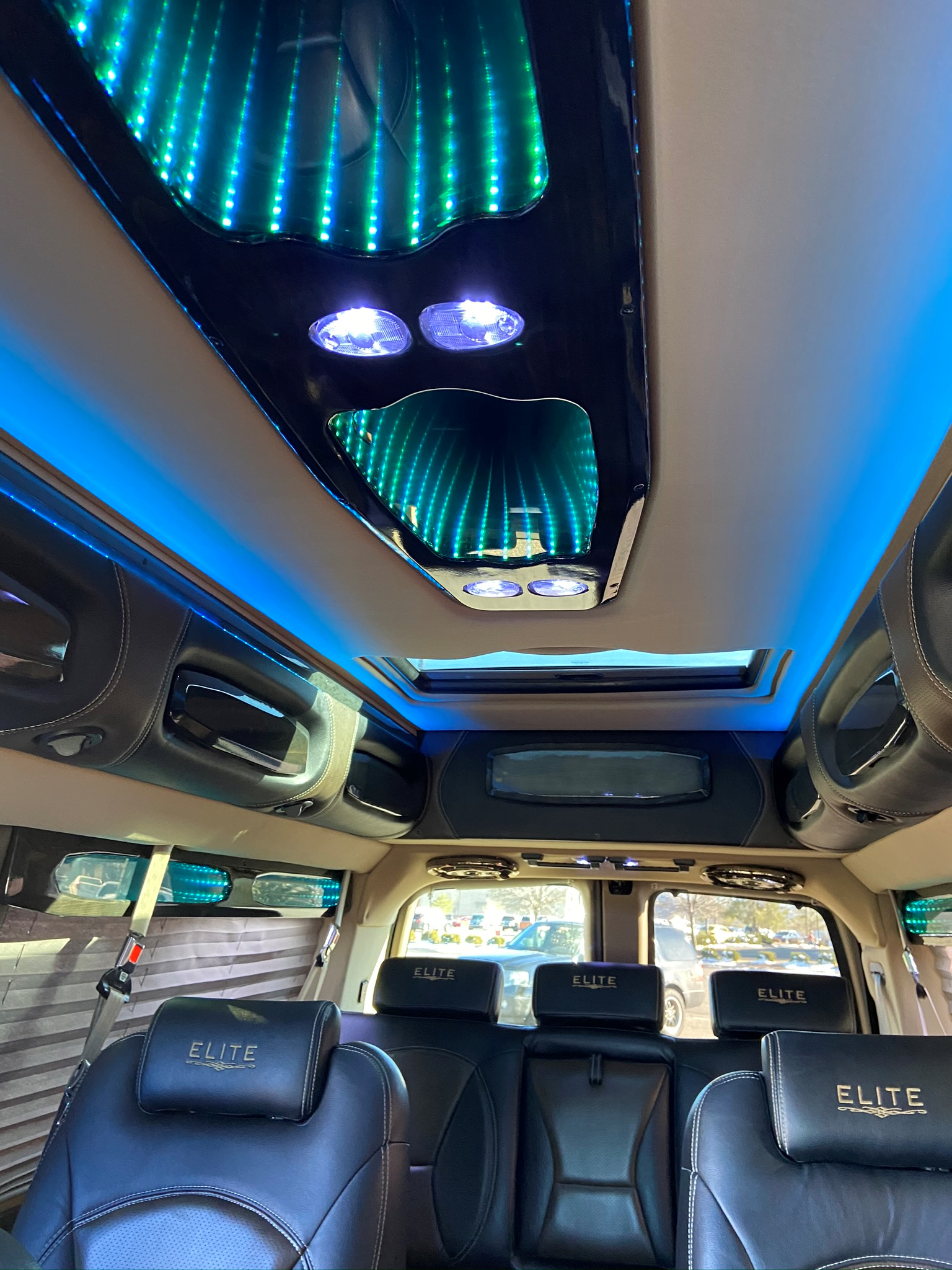 interior light blue