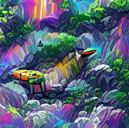 spaceship_on_a_cliff_in_a_jungle_colorful_pixel art_sflicker_6849921581654774425.png