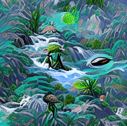 seti_in_a_flowing_space_jungle_river_in_the_mountains_green_pixel art_sflicker_64386108283