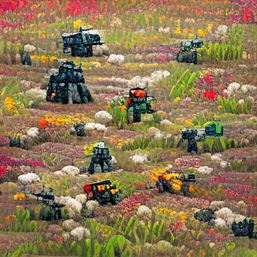 war_robots_in_a_sea_of_crops_colorful_pixel art_sflicker_777555777.png