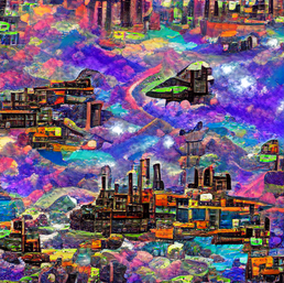 industrial_complex_over_wild_river_through_a_space_canyon_pixel art_sflicker_1190718906543