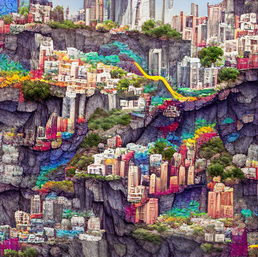 a_network_of_megacity_on_a_cliff_colorful_pixel art_sflicker_6160547242153316435.png
