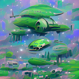 green_spaceship_0.8_Trennstrich_waterfall_over_wild_river_through_a_space_canyon_pixel art