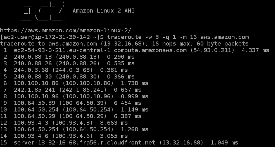 traceroute in linux