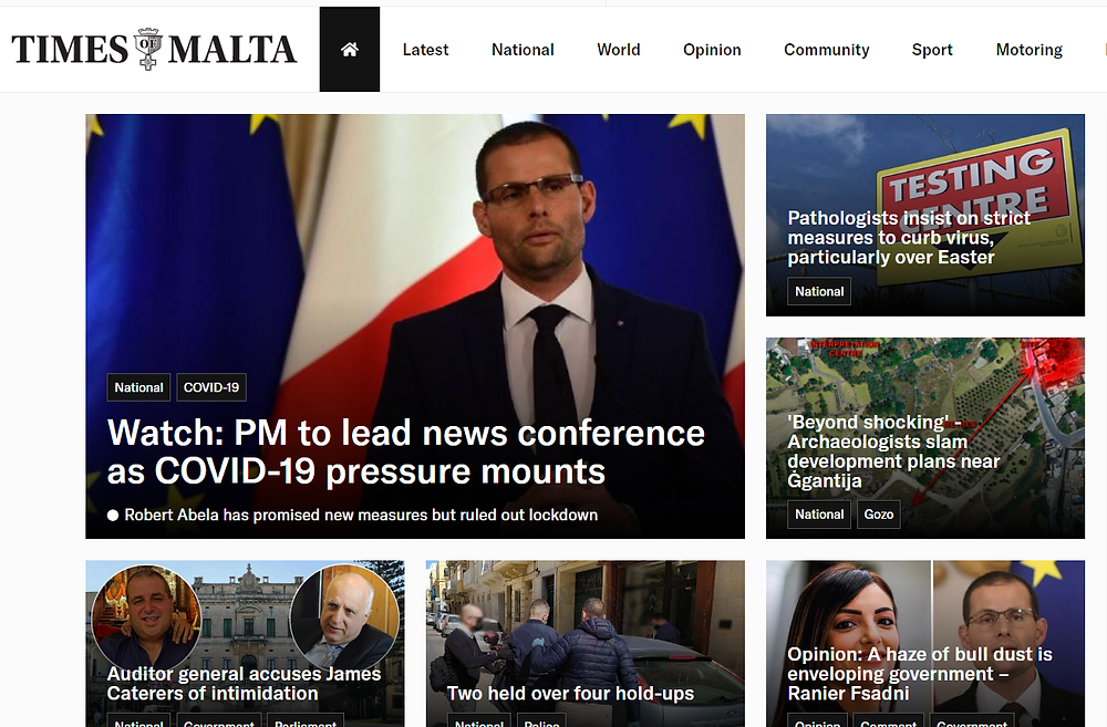 Times of malta web