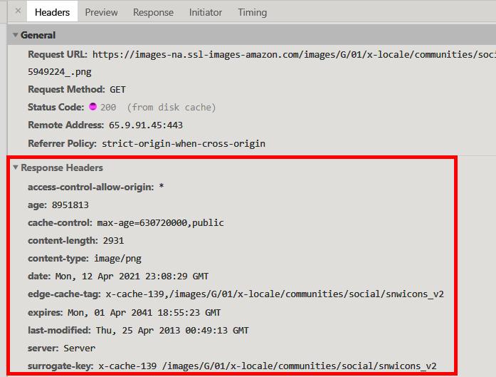 Optimise cache-control headers