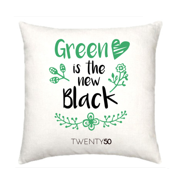 Green is the new black - cushion