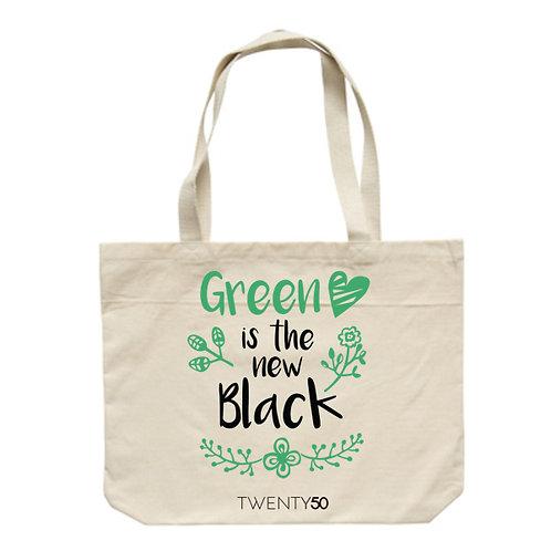 Green Is The New Black - Eco Biodegradable Shoulder Bag