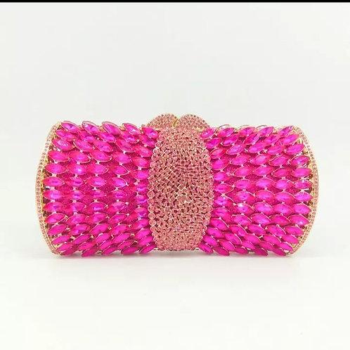 Pink Jewel Clutch