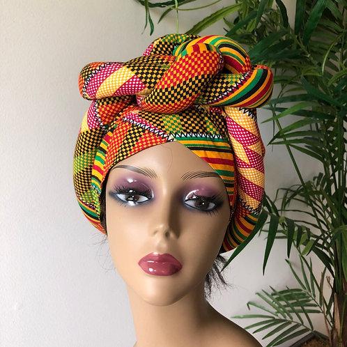African kente wrap