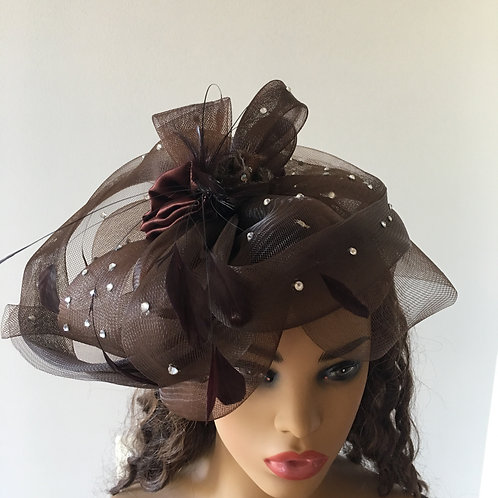 Brown Swirl Fascinator
