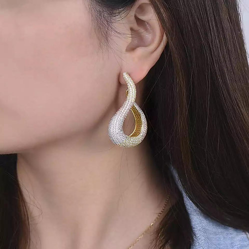 Janekelly water drop Earring