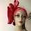 Thumbnail: Red lace floral Turban