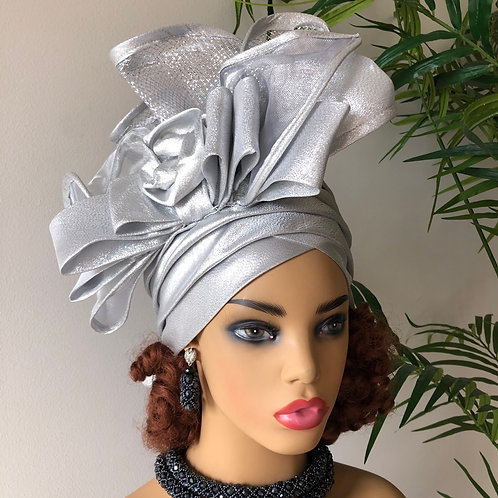 Silverware  Fascinator Turban