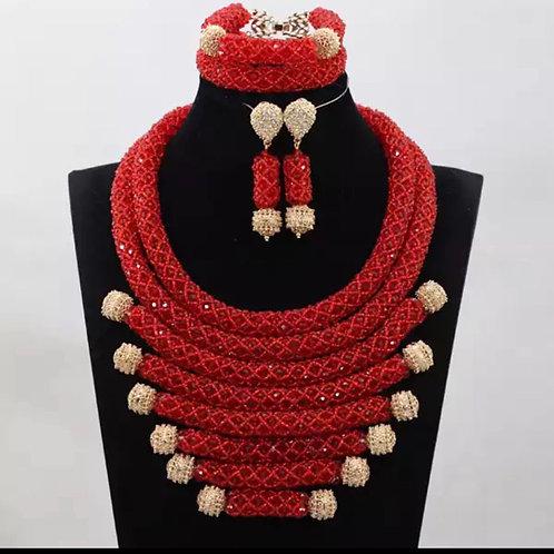 Du Do African bead Necklace Set