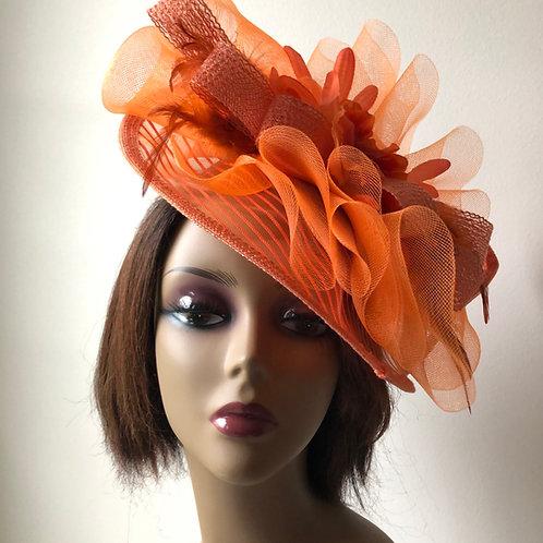 Orange Fascinator Hat