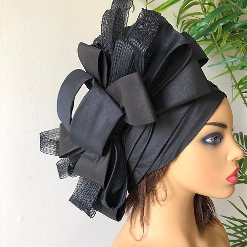 Black Silk Turban