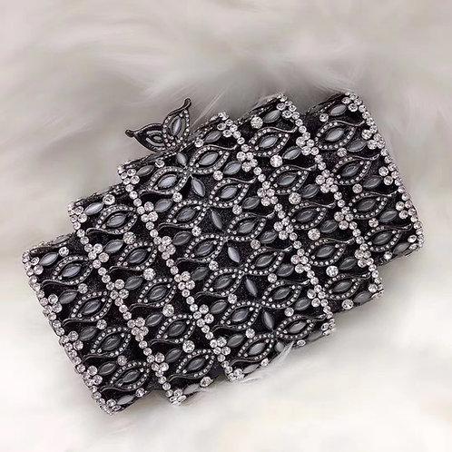 Black Roller Clutch Purse