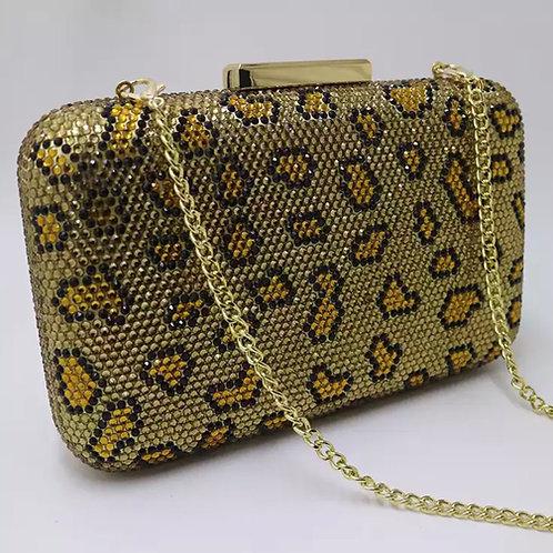 Embellished Leopard  Crystal Clutches
