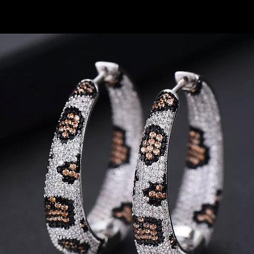 Vikki Leopard  Earring