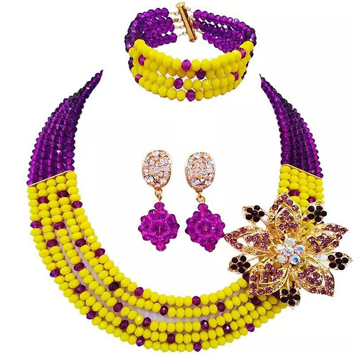 Africa Crystal Beaded necklace