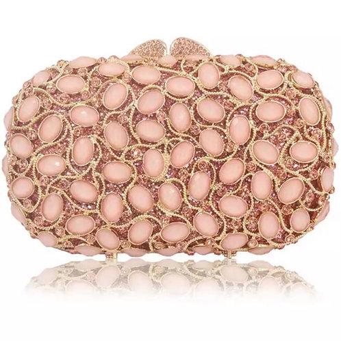 Pink vines clutch purses