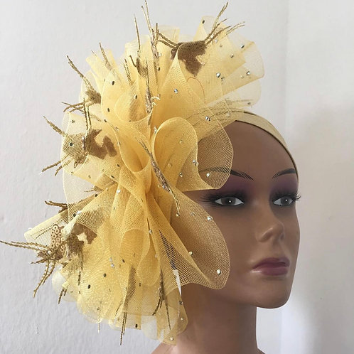 Gorgeous Sage Fascinator Turban