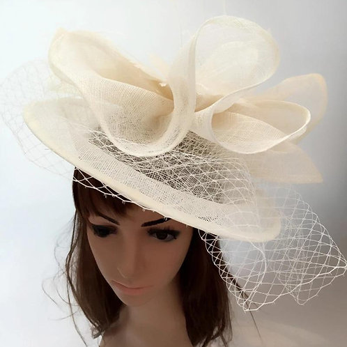 Net cream Fascinator