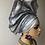 Thumbnail: Silver African women's Auto gele
