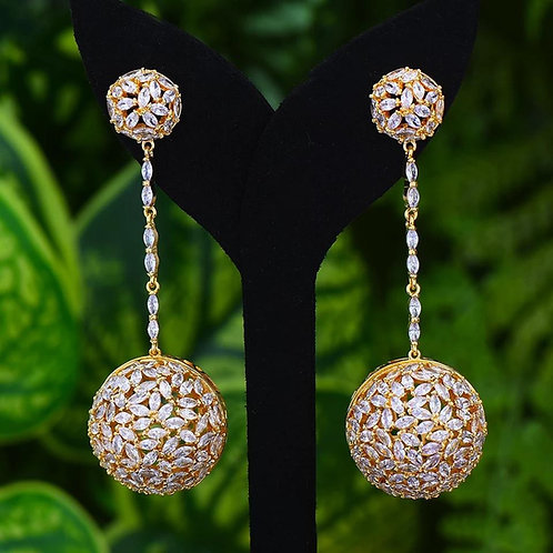 Jade Big Drop Earring