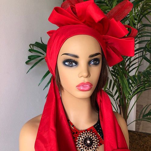 Red Rose Headwrap