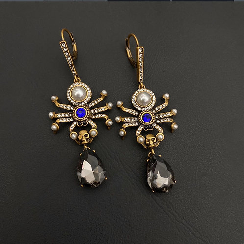 McQueen Spider Teardrop Earrings