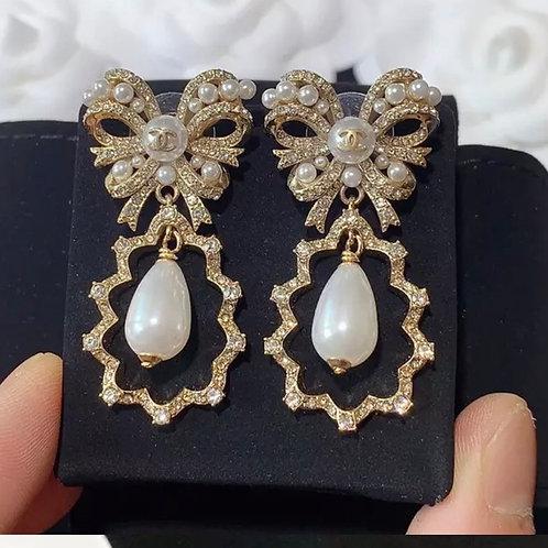 Chanel Chandelier Pearl Earrings