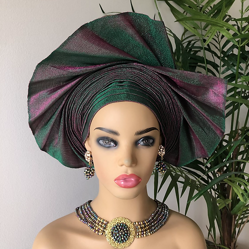 African Auto Gele Two Tone