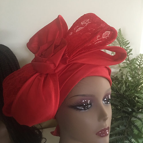 Butterfly Red Turban