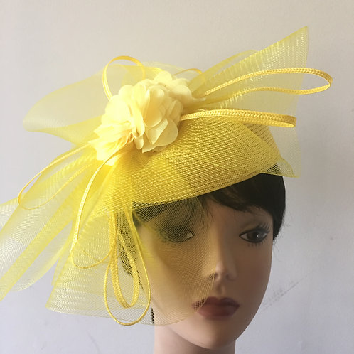French veil fascinator hat