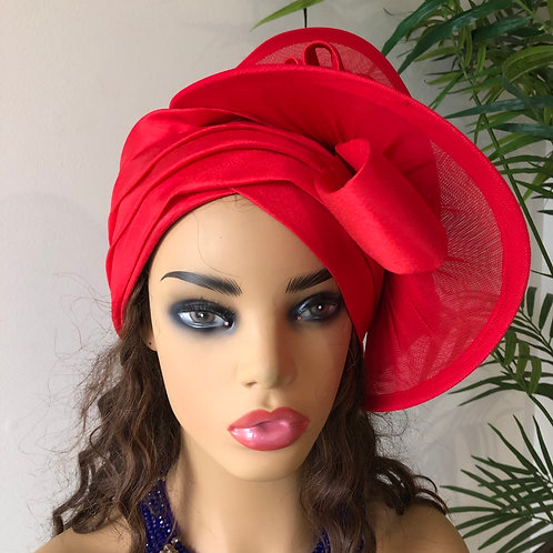 Red Silk Turban